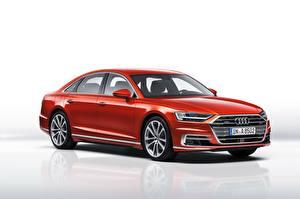 Hintergrundbilder Audi Rot Metallisch A8, 50 TDI quattro Worldwide Autos