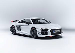 Bilder Audi Weiß Metallisch Coupe R8 v10 2018