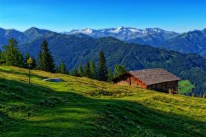 Hintergrundbilder Österreich Berg Grünland Alpen Luppitsch Styria Natur