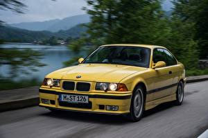 Wallpapers BMW Moving Yellow Metallic Coupe  automobile