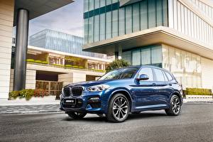 Bakgrunnsbilder BMW Blå Metallisk CUV X 3M, G08 Biler