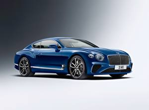 Wallpaper Bentley Blue Metallic Continental GT 2018 automobile