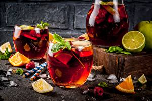 Image Berry Lime Orange fruit Drink Lemonade Highball glass Jugs