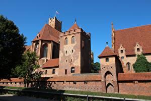 Fotos Burg Polen Malbork Castle Städte