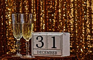 Hintergrundbilder Schaumwein Neujahr Weinglas Englischer