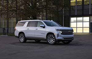 Wallpaper Chevrolet Metallic Side Sport utility vehicle SUV, Suburban, 2020 automobile