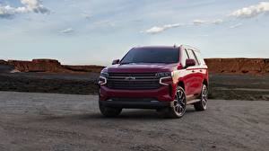 Pictures Chevrolet Front Red Metallic SUV Tahoe, 2020 Cars