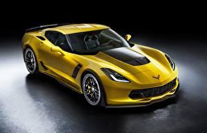 Hintergrundbilder Chevrolet Gelb Metallisch Coupe Z06, Corvette auto