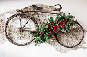 Picture New year Berry Bike Design Branches Balls