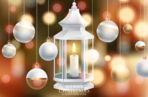 Bilder Neujahr Kerzen Englischer Kugeln Text