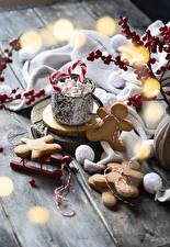 Hintergrundbilder Neujahr Kekse Bretter Design Marshmallow Lebensmittel