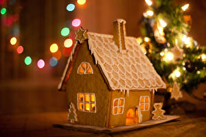 Hintergrundbilder Neujahr Backware Haus Kekse Design Lebensmittel