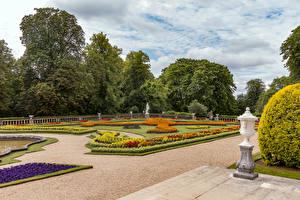 Desktop hintergrundbilder England Garten Design Rasen Waddesdon Manor Natur