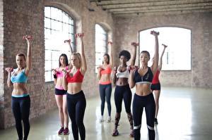Hintergrundbilder Fitness Körperliche Aktivität Uniform Blondine Fitnessstudio Hand Bauch sportliches Mädchens