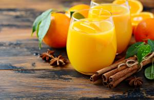 Photo Juice Cinnamon Orange fruit Highball glass Food