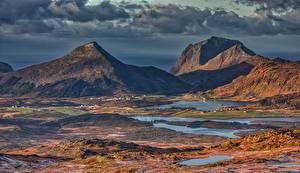 Fotos Lofoten Berg Landschaftsfotografie Norwegen Justadtinden Natur