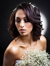Hintergrundbilder Make Up Frisur Gesicht Haar Mädchens