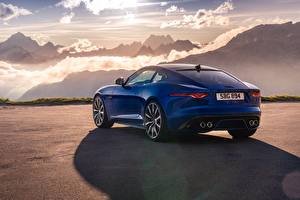 Fotos Berg Jaguar Hinten Blau Metallisch Coupe F-Type R, 2021 auto