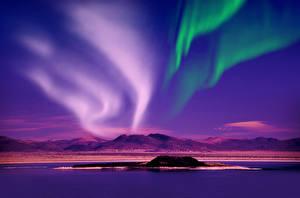 Hintergrundbilder Norwegen Himmel Fluss Nacht Nordlicht Hügel