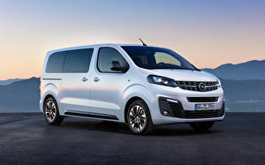 Fotos Opel Ein Van Weiß 2019 Zafira Life Medium