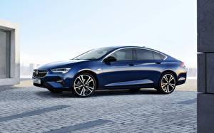 Bilder Opel Seitlich Blau Metallisch Limousine 2020, Insignia .Grand Sport auto