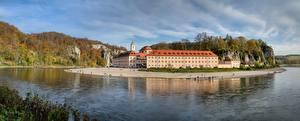 Bilder Flusse Kloster Deutschland Bayern Weltenburg Abbey, Danube Städte