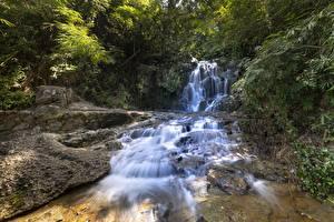 Fotos & Bilder Flusse Steine Wasserfall Natur