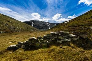 Hintergrundbilder Himmel Gebirge Stein Park Norwegen Rondane National Park