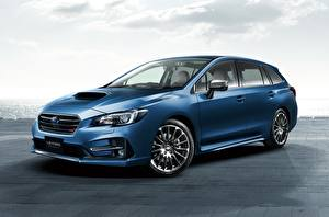 Desktop hintergrundbilder Subaru Blau Metallisch Levorg, STI Sport 2017 automobil