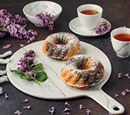 Wallpapers Tea Pound Cake Syringa Powdered sugar Cup