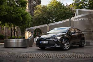 Bilder Toyota Schwarz Metallisch 2019 Corolla Touring Sports Hybrid Autos