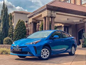 Fotos Toyota Hellblau Metallisch 2019 Prius