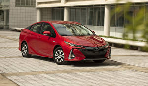 Fotos Toyota Rot Metallisch  auto