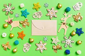 Bilder Spielzeug Neujahr Schneeflocken Fausthandschuhe Kleine Sterne Brief Briefumschlag