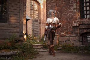 Hintergrundbilder Krieger The Witcher 3: Wild Hunt Ciri Dolch Junge Frauen Ciri, Kristina Borodkina Mädchens