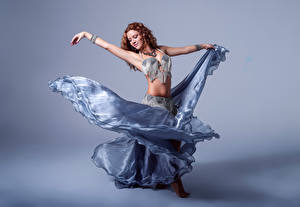 Image Dancing Hands Skirt Brown haired Alba Morales young woman