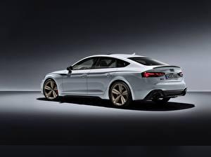 Bilder Audi Weiß Metallisch Seitlich RS5, Sportback, RS 5, 2020 auto