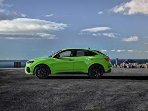 Bilder Audi Seitlich Grün Metallisch Softroader Sportback, 2020, RS Q3 auto
