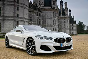 Images BMW White Coupe 840d xDrive M Sport 2018 Cars