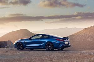 Bilder BMW Seitlich Metallisch Blau Coupe Competition, 2020, M8, F91 automobil