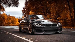 Hintergrundbilder BMW Fahrzeugtuning Schwarz Metallisch 4-Series auto