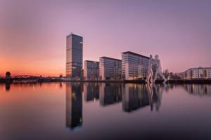 Hintergrundbilder Berlin Deutschland Morgendämmerung und Sonnenuntergang allianz Städte