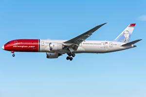 Tapety na pulpit Boeing Samolot Samolot pasażerski Widok z boku 787-9, Dreamliner