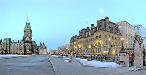 Wallpapers Canada Building Street Street lights Ottawa Ontario Cities