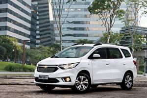 Bilder Chevrolet Ein Van Weiß 2019 Spin Premier