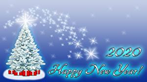 Picture Christmas New Year tree Gifts 2020 English