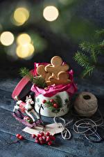 Bilder Neujahr Kekse Beere das Essen
