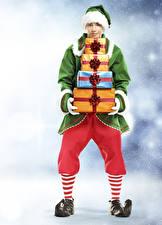 Picture Christmas Elves Man Uniform Present