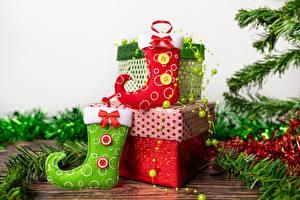 Fotos Neujahr Socken Schachtel Geschenke
