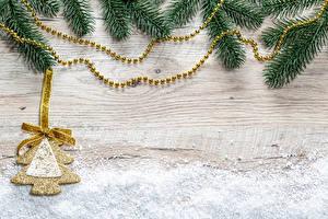 Hintergrundbilder Neujahr Bretter Ast Tannenbaum Schleife Vorlage Grußkarte